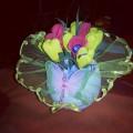 Сладкие букетики из бумажных цветов