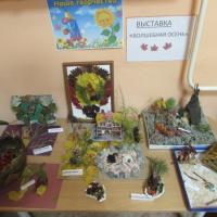 Фотоотчет о выставке поделок из природного материала «Волшебная осень»