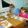 Занятие «Мы рисуем мир» (фотоотчет)