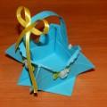 Корзинка для пасхального яйца в технике оригами. Мастер-класс