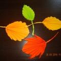 Гофрированные листья для оформления интерьера группы к осенним праздникам. Мастер-класс