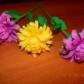 Цветок астры из гофрированной бумаги. Мастер-класс