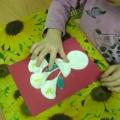 Как сделать открытку из ватных палочек и дисков 24