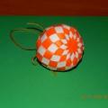 Новогодний шар из бумаги в технике оригами. Мастер-класс