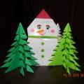 Снеговик в технике оригами. Мастер-класс