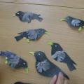Детский мастер-класс «Скворцы из бумаги»