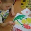 Конспект занятия по художественно-эстетическому развитию с применением нетрадиционной техники рисования «Тюльпаны»
