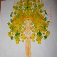 Фотоотчет «Изобразительная деятельность детей с применением нетрадиционных техник рисования «Осень»