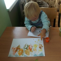 Конспект занятия по изобразительной деятельности «Осенний пейзаж» с применением нетрадиционных техник рисования