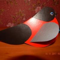 Мастер-класс «Птички— снегирь и синичка из бумажных сердечек»