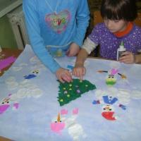 Коллективная работа «Забавы снеговиков»