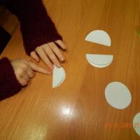 Детский мастер-класс изготовления новогодней открытки в технике «объемная аппликация» из бумаги