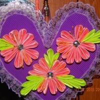 Мастер-класс изготовления поделки «Весеннее сердечко» с использованием техники «канзаши»