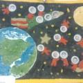 Фотоотчёт. Коллективная работа в первой младшей группе «Покорители космоса»