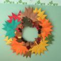 Коллективная работа с детьми «Осенний венок». Мастер-класс
