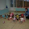 Интегрированное тематическое занятие по физической культуре, развитию речи и аппликации «Мой мяч» (средняя группа)