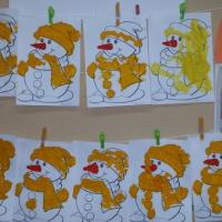Фотоотчет «Художественное творчество. Рисуем снеговика»