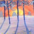 Мастер-класс «Рисуем гуашью зимние пейзажи с дошколятами»
