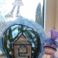Фотоотчет о выставке поделок из фетра, атласных ленточек, мишуры «Мастерская Деда Мороза»
