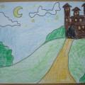 Мастер-класс по рисованию на тему: «Волшебный замок»