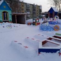 Фотоотчет «Зима-прекрасная пора для снежных построек»