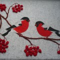 Мастер-класс «Птицы на ветке рябины» (аппликация)