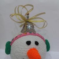 Мастер-класс по изготовлению новогодней игрушки в технике вязания крючком на городскую ёлку «Снеговичок»