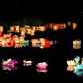 Фоторепортаж о фестивале водных фонариков в Нижневартовске
