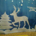 Новогоднее оформление зала к сказке «Новогоднее путешествие к Деду Морозу»