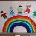Мастер-класс. Коллективная работа ко Дню защиты детей: «Радужный хоровод»