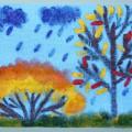Мастер-класс по рисованию в нетрадиционной технике «Осень на опушке краски разводила…»