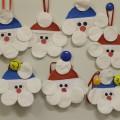 Мастер-класс: аппликация из ватных дисков-новогодний подарок «Дед Мороз»