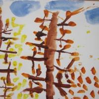 Конспект занятия по рисованию в средней группе тема: «Золотая осень»