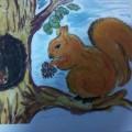 Дидактическая игра на развитие внимания для детей младшего дошкольного возраста «Помоги белочке найти своё дупло»