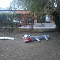 Нетрадиционное физкультурное оборудование на участке «Бегемот Тимоша»