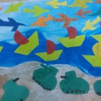 Коллективная работа к Дню защитника Отечества «Защитники Родины»