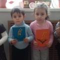 Мастер класс «Открытка для мамочки» (первая младшая группа)