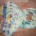 Мастер-класс. Шифоновый шарфик «Цветная фантазия» в подарок маме к 8 марта