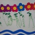 Мастер класс «Цветочная поляна». Оформление группы к 8 марта