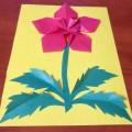 Мастер-класс по изготовлению открытки в технике оригами «Аленький цветочек для любимой мамочки»