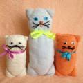 Мастер-класс «Кошка с котятами из полотенец»— оформление подарка
