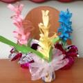 Весенние гиацинты из цветной бумаги— мастер-класс