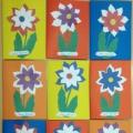 «Цветок для мамы». Детский мастер-класс по аппликации в младшей группе