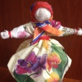 Как из салфетки сделать куклу 90