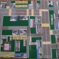 Дидактическая игра по ПДД для детского сада. Макет «Безопасный маршрут по поселку»