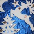 Новогоднее украшение из пенопласта по сказке «Серебряное копытце»