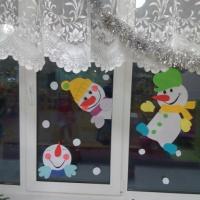 Оформление группы «Как мы украсили окна к Новому году!!!»