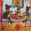 Рисование по сказке «Три медведя» (подготовительная группа)