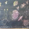 Рисование на тему «Космос» в старшей и подготовительной группе