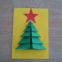 Мастер-класс «Новогодняя открытка «Елочка»
